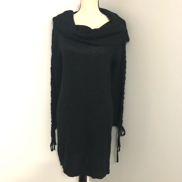 questions Dresses & Skirts - New turtle neck black sweater dress size S